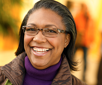Picture of woman smiling.