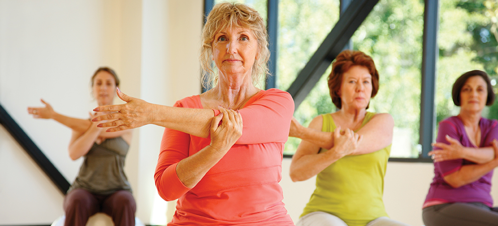 senior women arm stretch