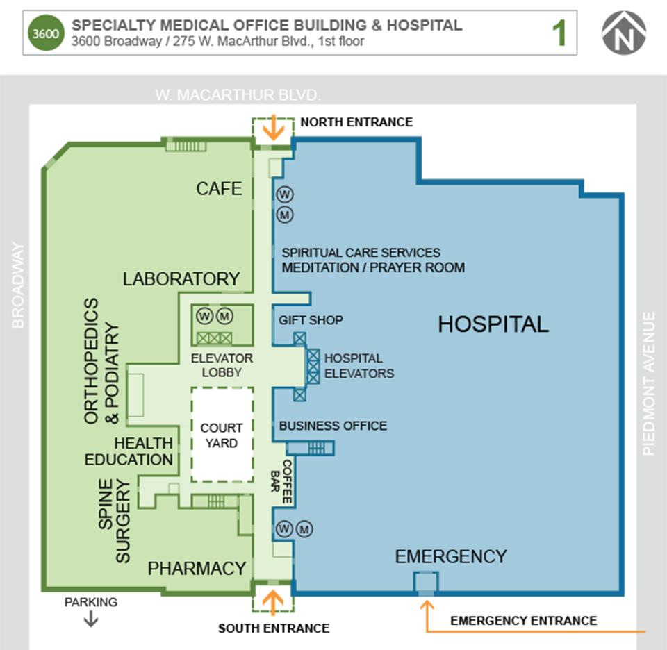 Maternity Hospital Floor Plan: Oakland Medical Center
