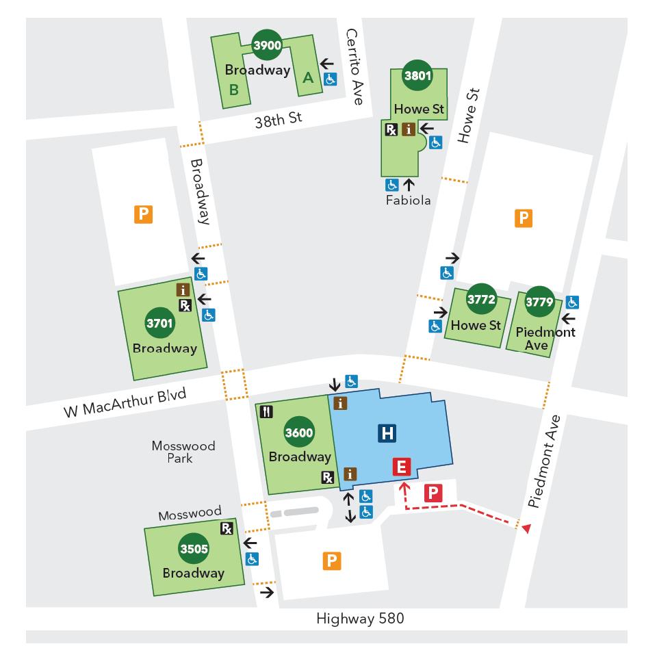 Oakland Medical Center - Campus Map - Kaiser Permanente ...