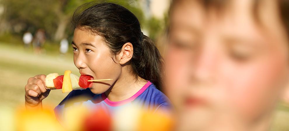 children fruit asian