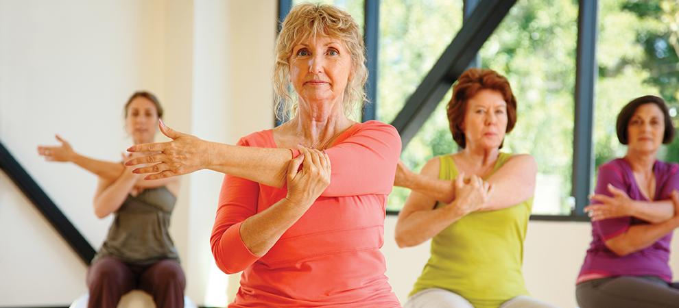 senior women arm stretch