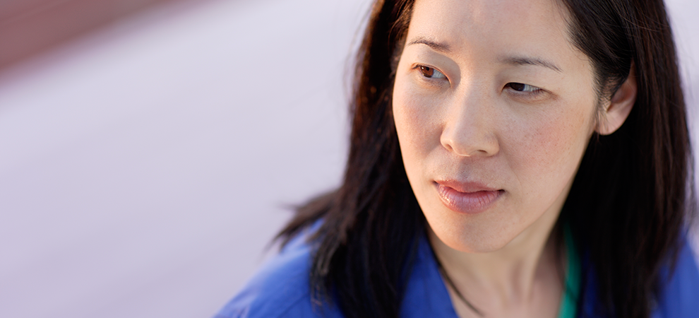 asian woman closeup
