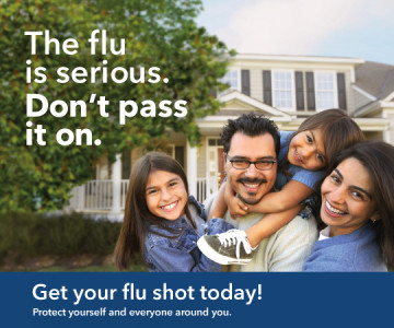 The flu is serious. Don't pass it on!
