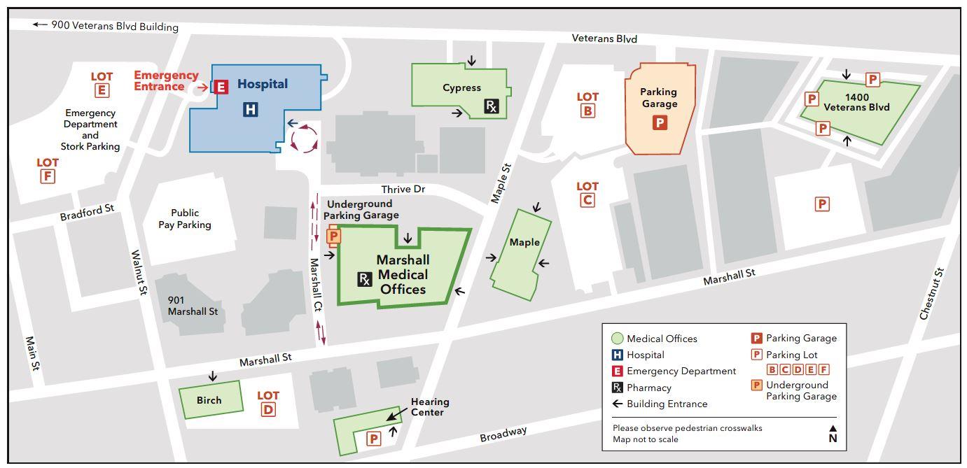 Cypress Building - Campus Map - Kaiser Permanente Redwood City