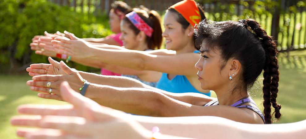 Dermatology women exercise