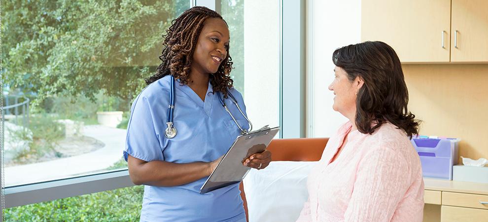 Breast Care Program Woman Doctor Window