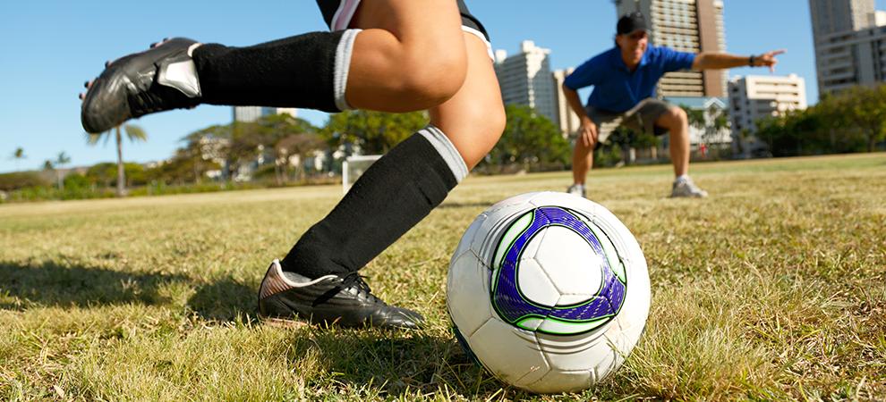 Orthopedics soccer legs children
