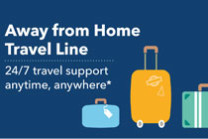Away from home travel line image