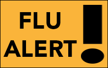 This is a flu alert. Health officials are reporting a high level of flu activity continuing in February and into March. It's not too late to get the flu shot. Click to learn more.