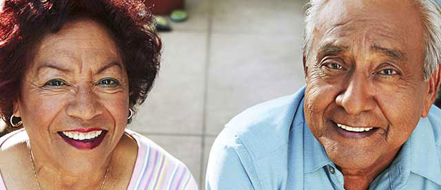 Elderly Couple Smiling Kaiser Permanente-San Bernardino