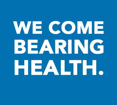 Text - We Come Bearing Health.