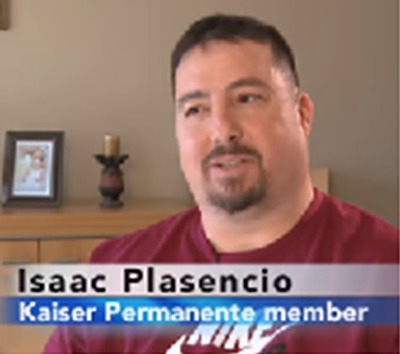 Still video of Isaac Plasencio, Kaiser Permanente member.
