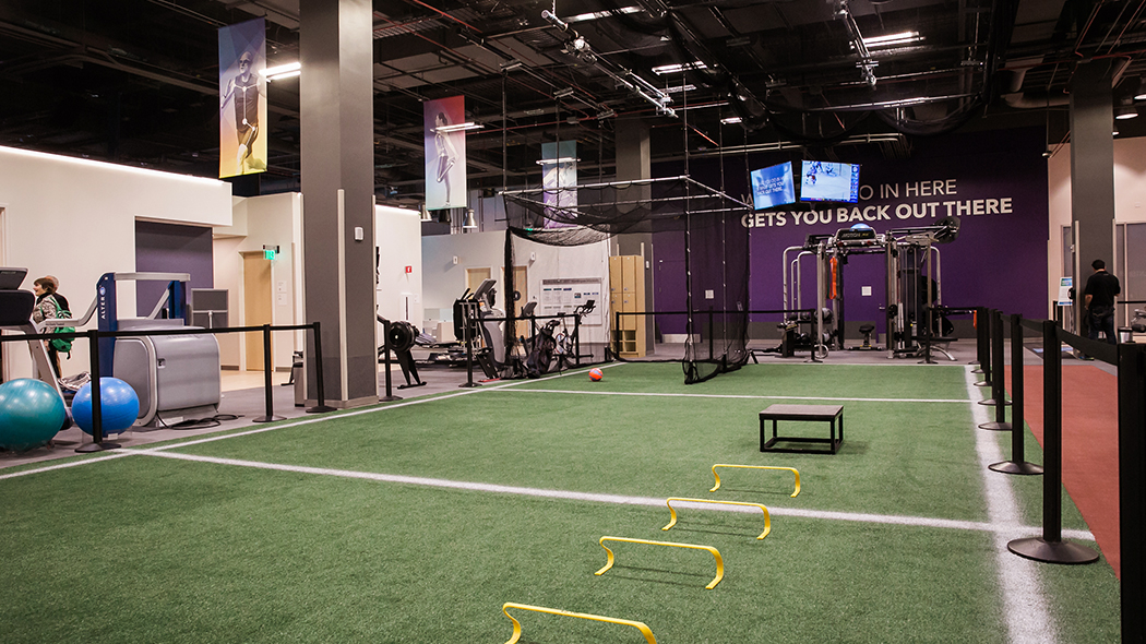 Rehabilitation open space for dynamic sports retraining and performance