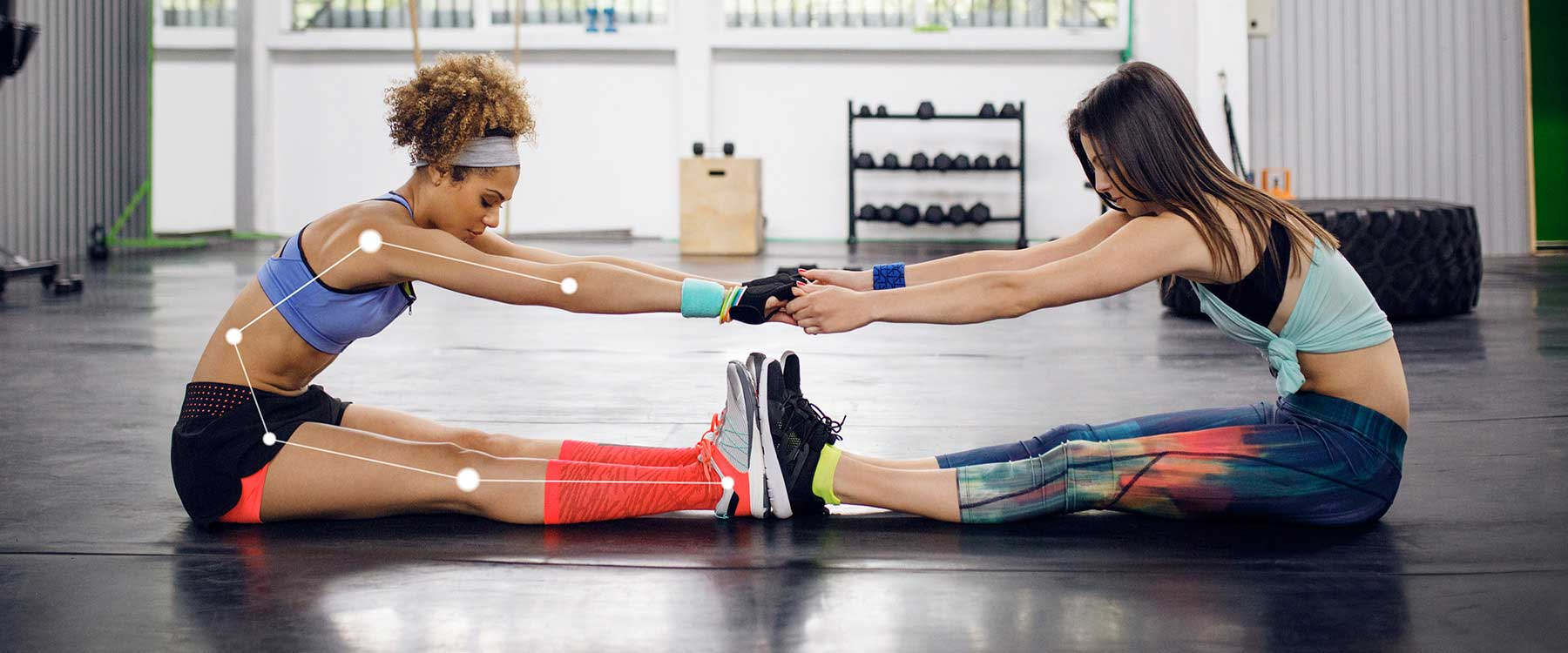 Two women doing exercise