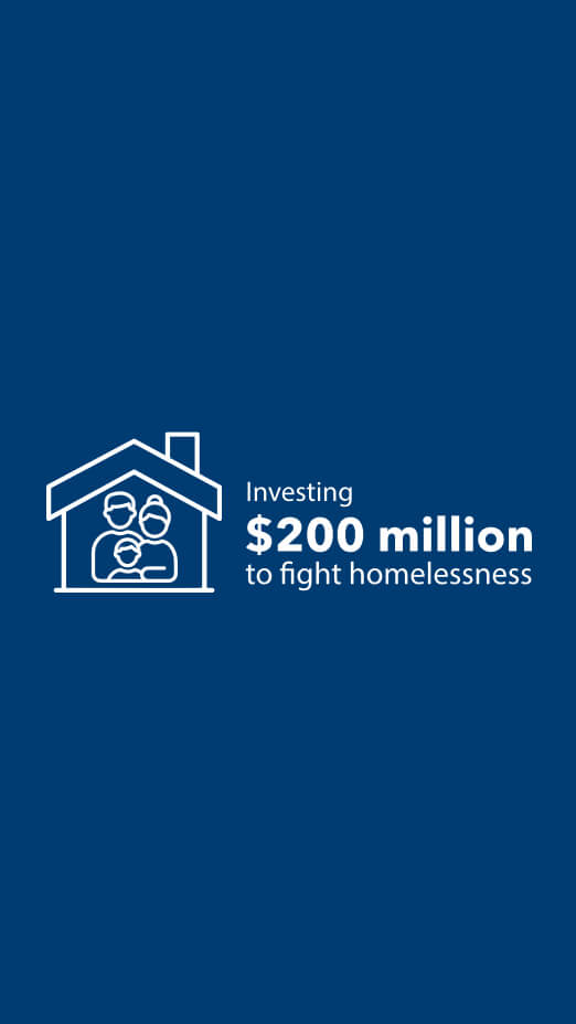 Investing $200 million to fight homelessness