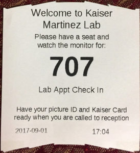 Example of Lab Appointment Ticket