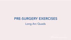 Long arc quad exercise