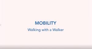 Walking with a walker
