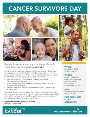 cancer survivors day flyer