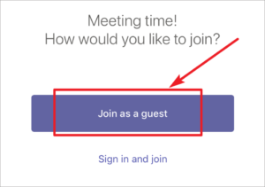 Image of how to join a Microsoft Teams meeting.