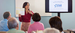 Woman Teaching Class