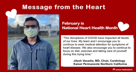 Dr. Jitesh Vasadia, Chair, Cardiology - Message from the Heart
