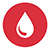 Blood drop icon for the Stop the Bleed program