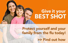 Protect yourself and your family from the flu today. Get vaccinated--at no cost to members.