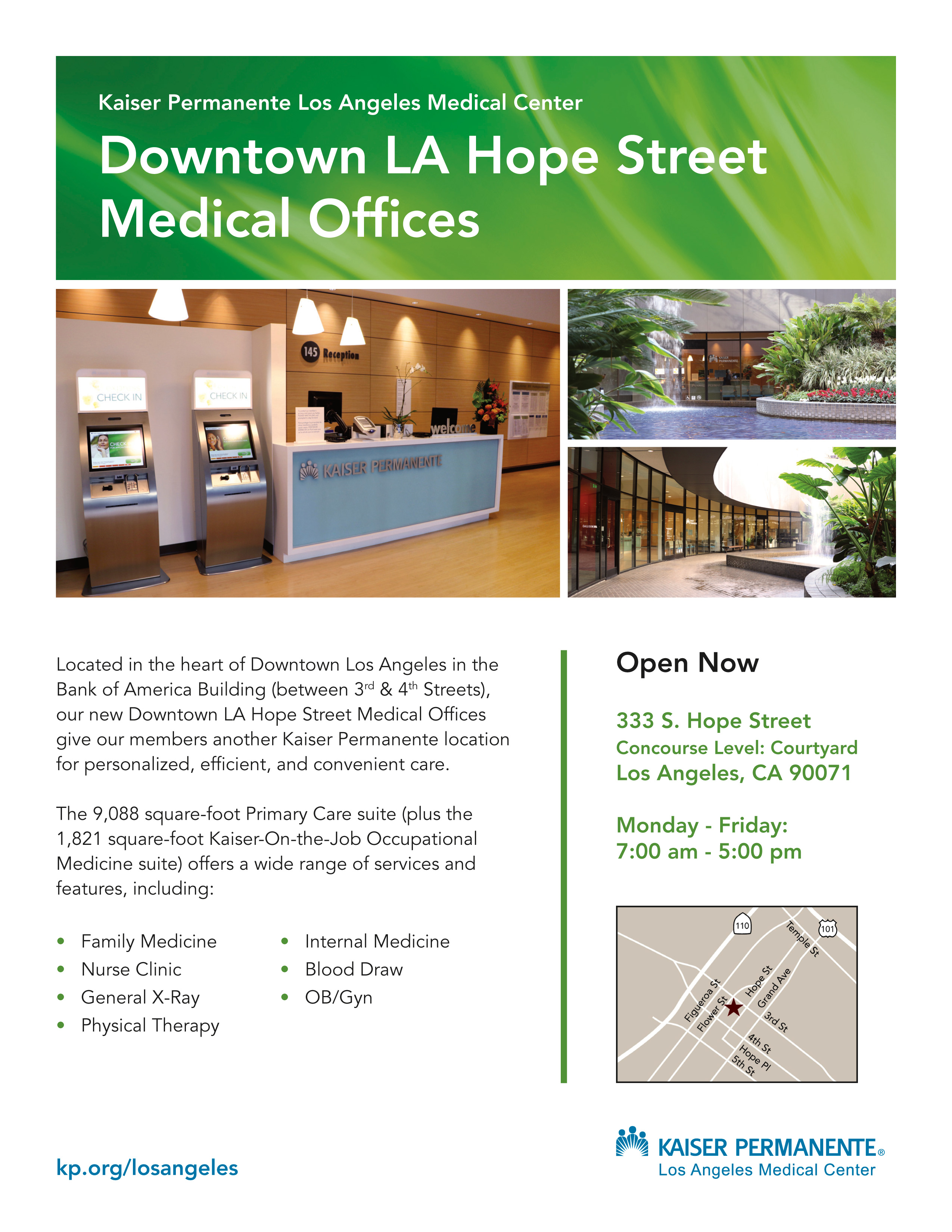 Los angeles health care kaiser permanente now open downtown la hope street medical offices falaconquin
