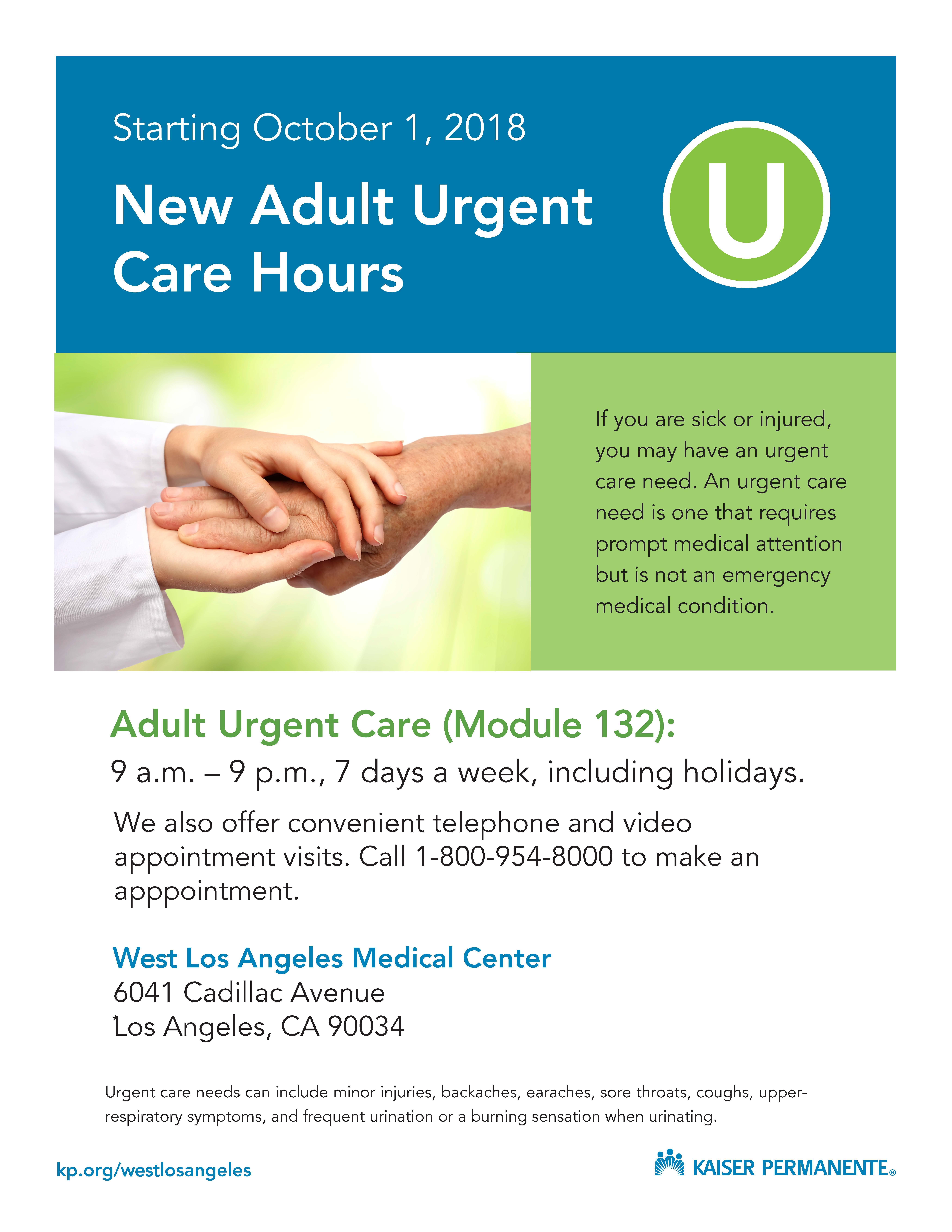 West LA Emergency and Urgent Care | Kaiser Permanente